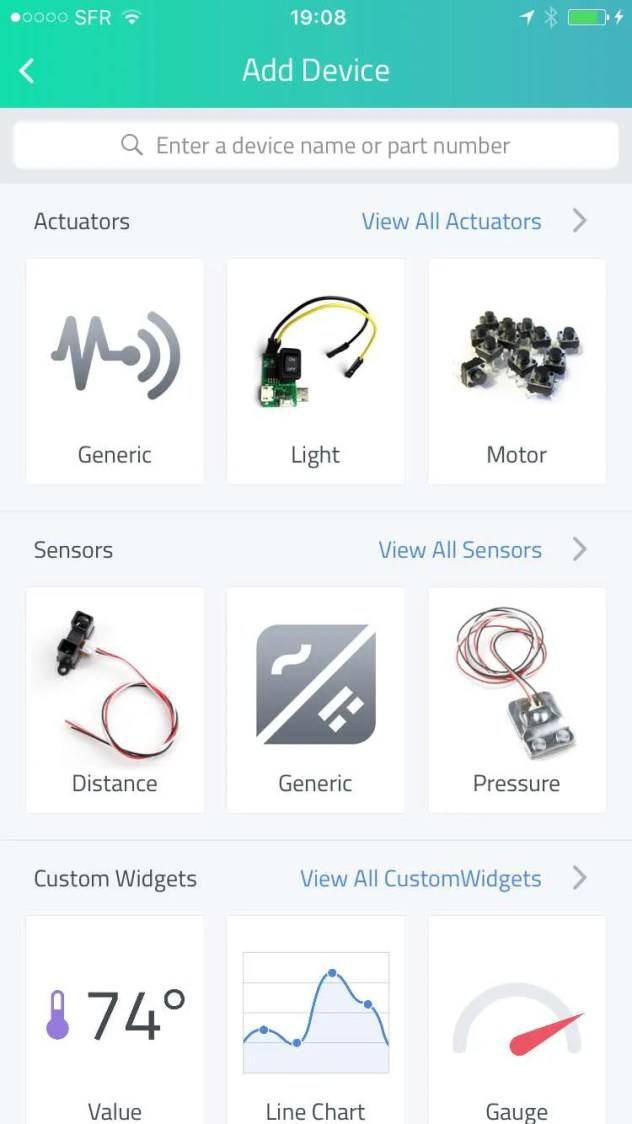 cayenne mydevices add motor