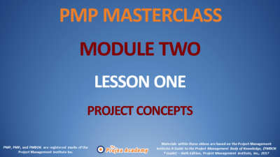 PMP Masterclass Module 2 - Concepts, Programs & Portfolios Agile