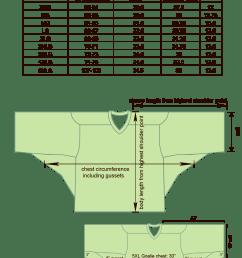 box lacrosse goalie size chart image [ 1000 x 1418 Pixel ]