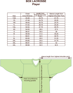 Box lacrosse player size chart image also charts for products projoy sportswears and apparel rh