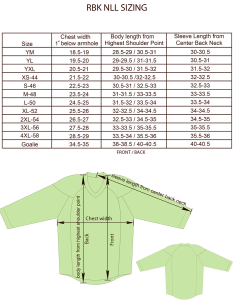 Reebok nll jersey size chart image also charts for products projoy sportswears and apparel rh