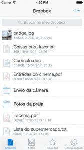 Dropbox para armazenamento de arquivos