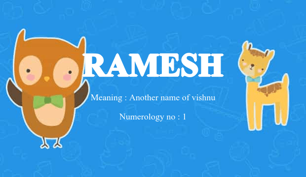 Ramesh Name Meaning