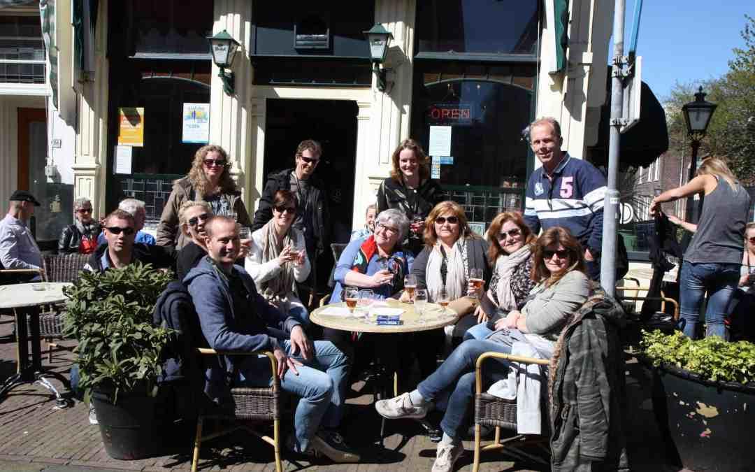 9e Lentebierwandeling Leiden op 19 april 2020.