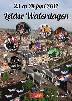Volop muziek tijdens Leidse Waterdagen op 23 en 24 juni 2012.