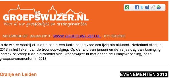Nieuwsbrief Groepswijzer.nl januari 2013