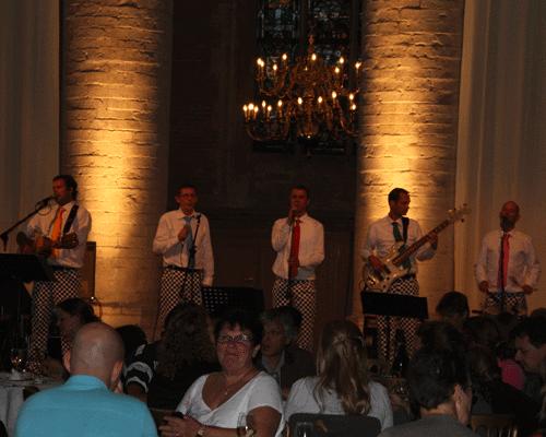 2 juni 2012 'Drie Gangen Zang' met de Slechte Band op inschrijving