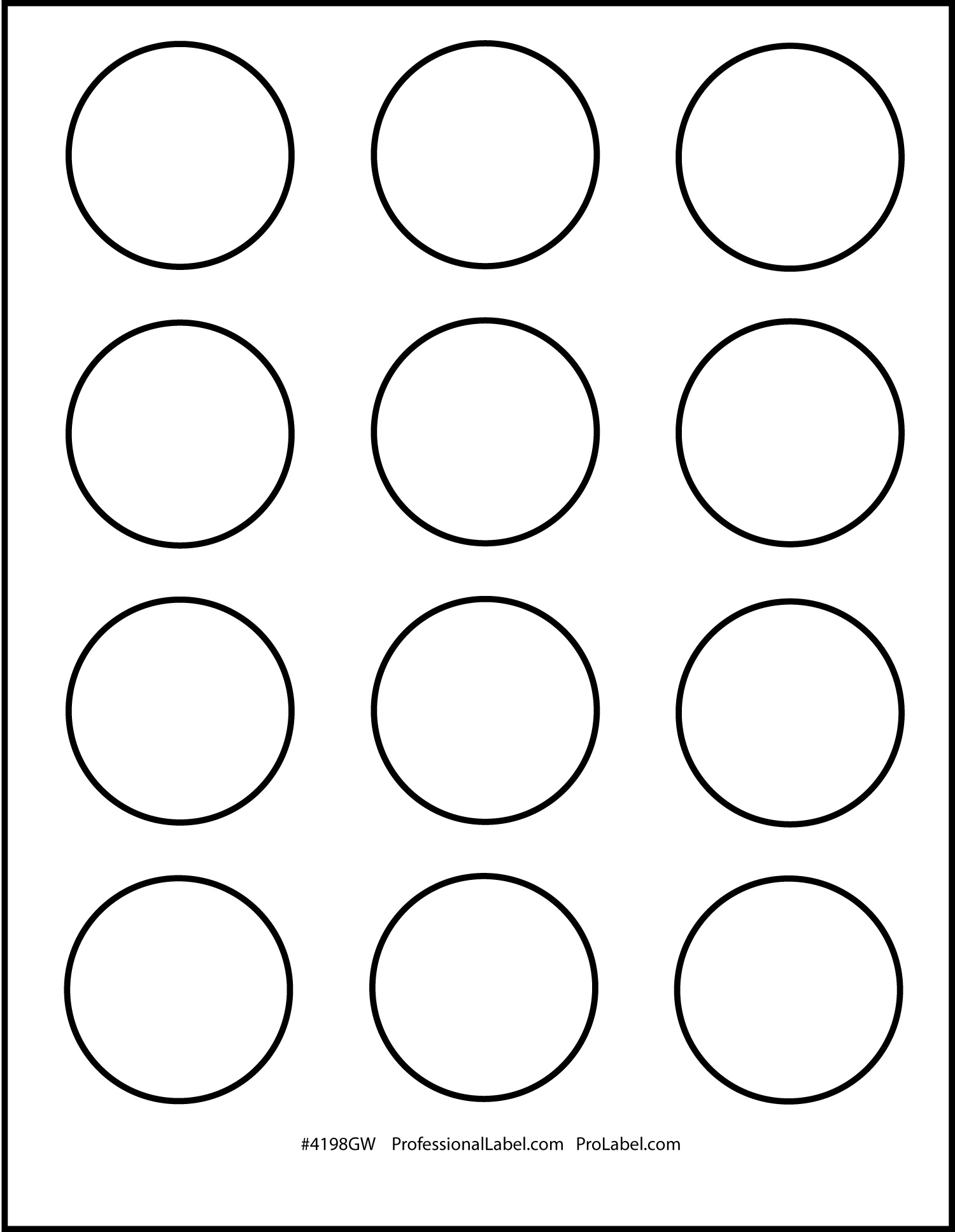 Matte Clear Printable Sticker Labels 50 Sheets 2 Inch