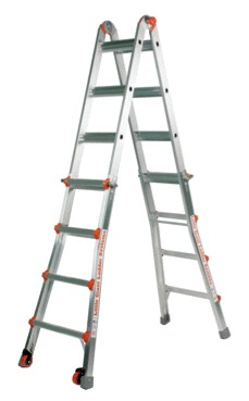 17 1A Classic Little Giant Ladder w/ 5 Accessories Wheels