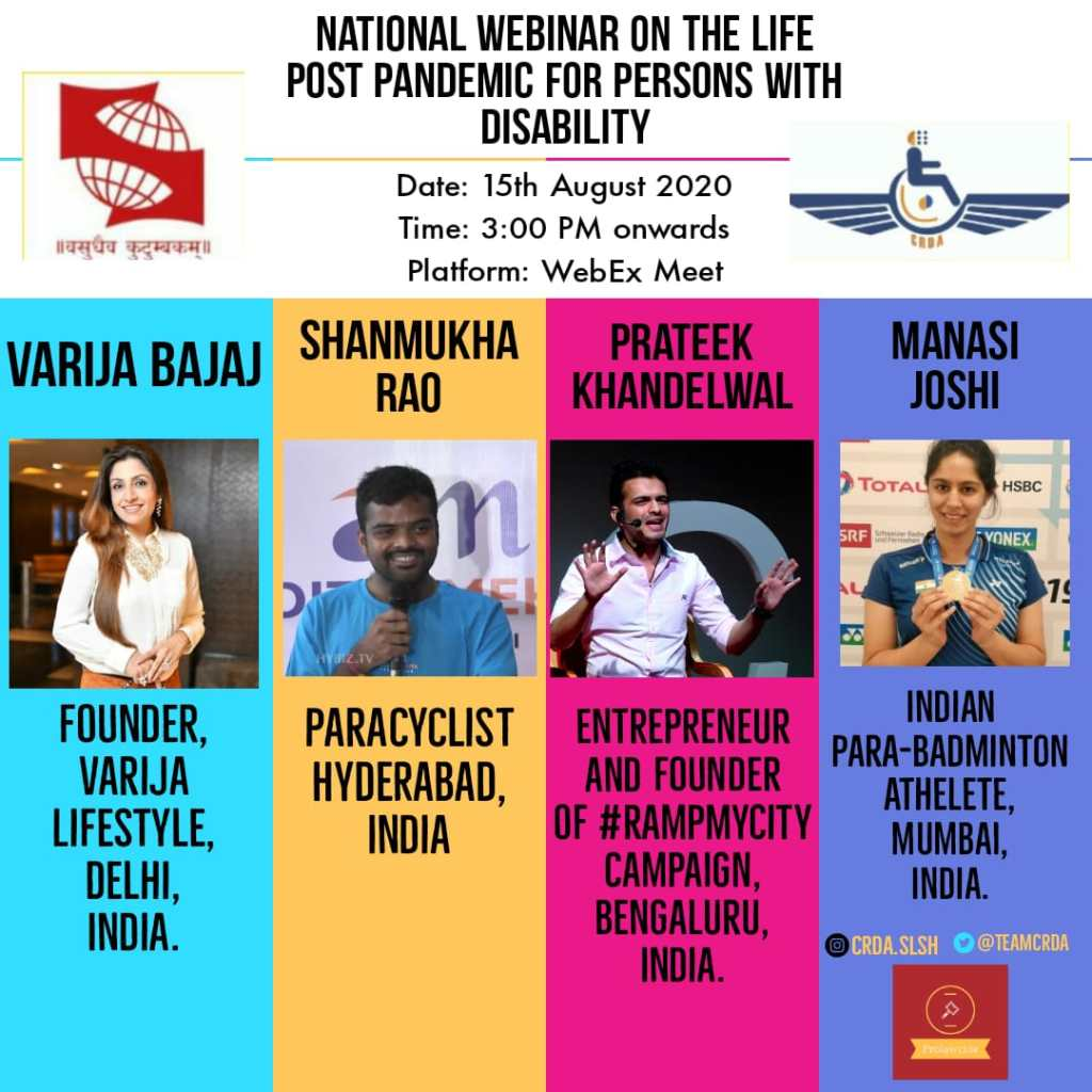 National Webinar: Life Post Pandemic for Persons with Disability : No Registration Fees - Prolawctor
