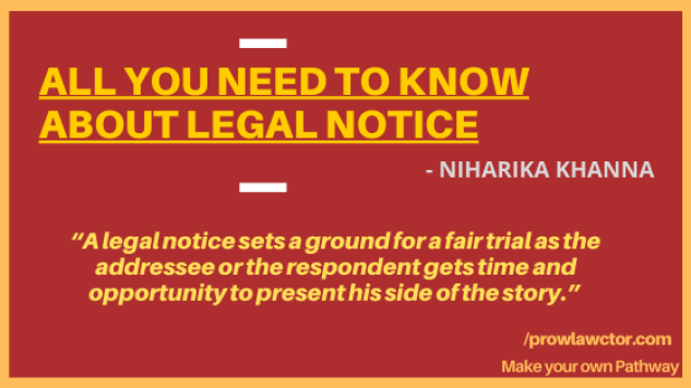 ALL YOU NEED TO KNOW ABOUT LEGAL NOTICE - Prolawctor