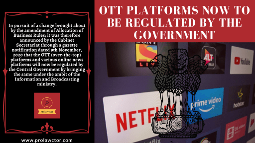 Can Indian Government Regulate Indian OTT Platforms