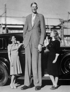 Giant Robert Wadlow with Actresses