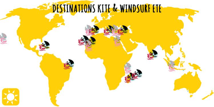 Destinations été kite et windsurf