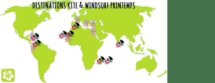 Destinations printemps kite et windsurf