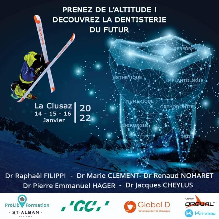 la dentisterie du futur s'invite à La Clusaz du 14 au 16 janvier prochain