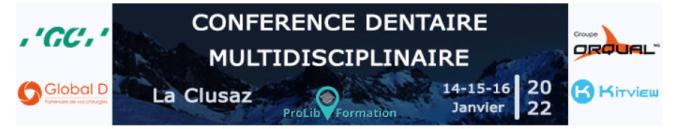 Conférence dentaire multidisciplinaire 2021 à La Clusaz
