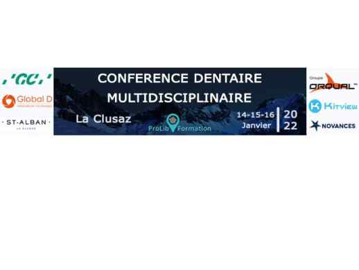 Bannière conférence dentaire multidisciplinaire