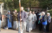 Friars lead walk