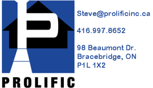 Company logo with address