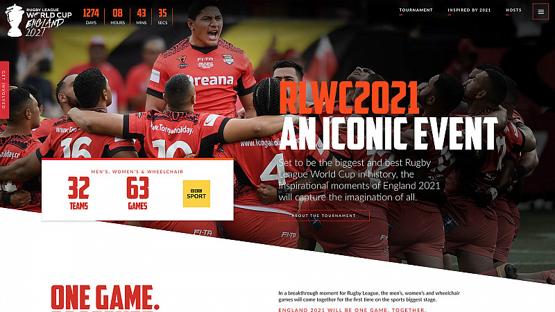 Rugby League World Cup 2021 aims to be most digitally