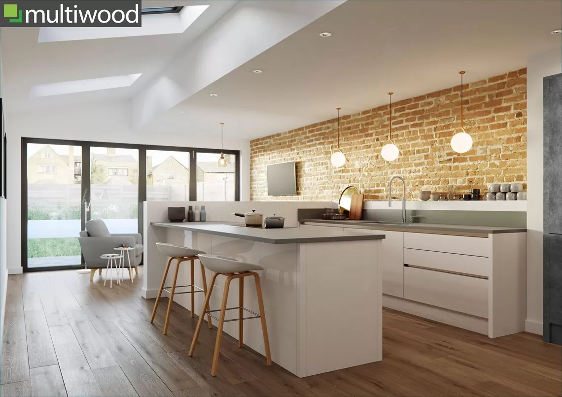 Multiwood Cosdon – Gloss Savanna & Charcoal Kitchen