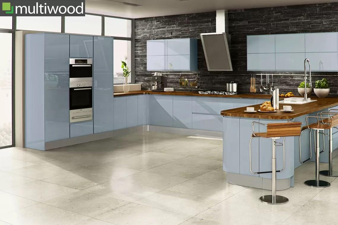 Multiwood Welford Sky Blue Kitchen