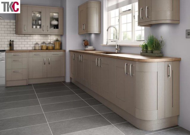 TKC Cartmel Hand Painted Brown Grey Kitchen