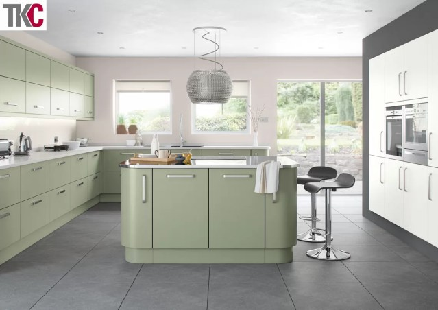 TKC Imola Hand Painted French Grey Kitchen