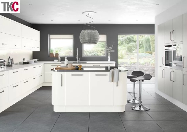 TKC Imola Hand Painted Super White Kitchen