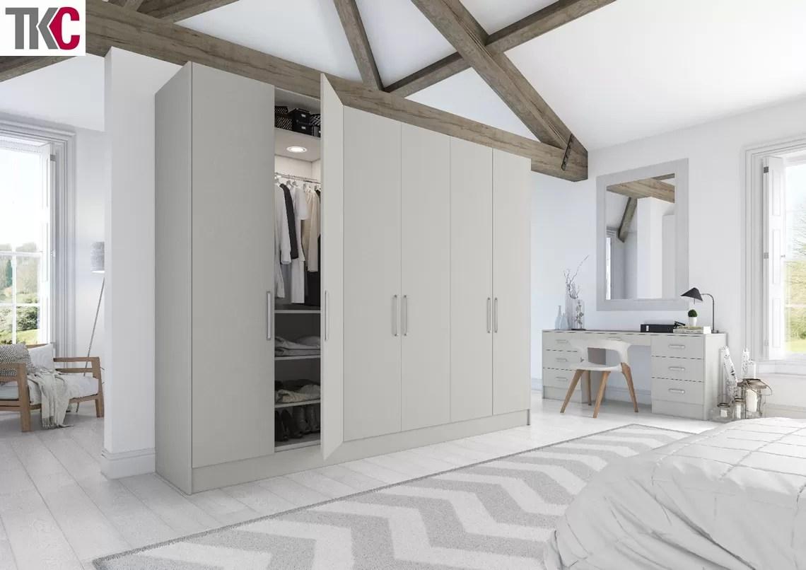 TKC Lastra Super Matt Light Grey Bedroom