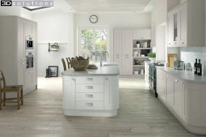 Trademouldings Boston Cashmere White Kitchen