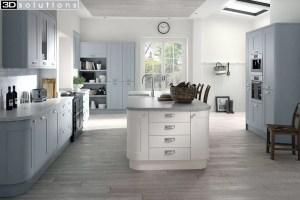 Trademouldings Boston Fjord White Kitchen