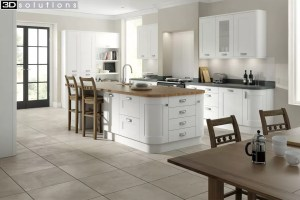 Trademouldings Boston White Kitchen