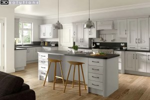 Trademouldings Buckingham Dove Grey Kitchen