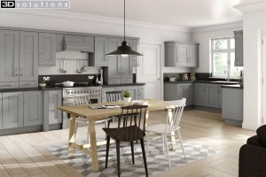 Trademouldings Buckingham Dust Grey Kitchen