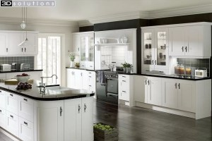Trademouldings Gresham White Kitchen