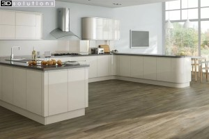 Trademouldings Larissa Handleless Gloss Alabaster Kitchens