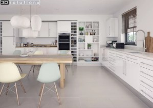 Trademouldings Lumi White Gloss Kitchen