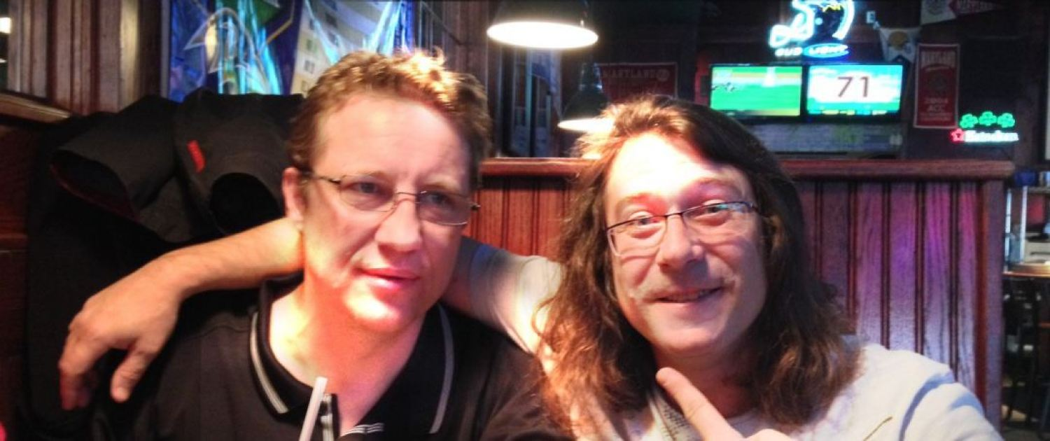 Prolix Music Stephen Hope and John Garrett in Looneys bar Bel Air