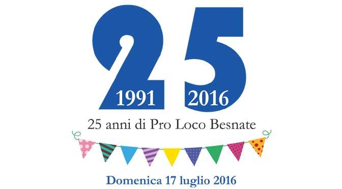 25 anni di Pro Loco Besnate: la festa il 17 luglio 2016