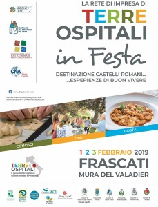 Frascati Mura del Valadier 1 - 2 - 3 febbraio 2019 - Terre Ospitali in Festa @ Frascati Mura del Valadier