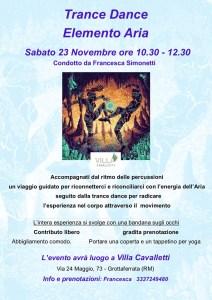 Trade Dance - Elemento Aria - Villa Cavalletti Grottaferrata 23 novembre ore 10.30 - 12.30 @ Villa Cavalletti Via 24 Maggio 73 - Grottaferrata