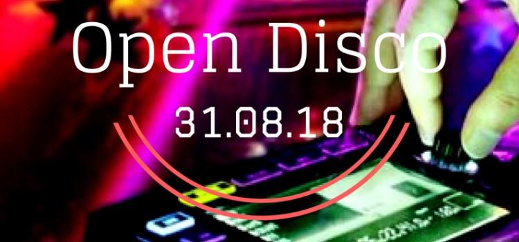 Volantino Open Disco