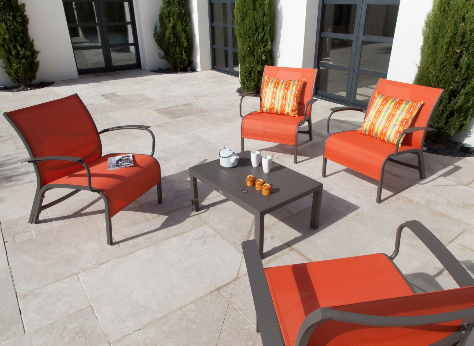 Salon Lounge Aluminium Textilne Linea Meubles Jardin
