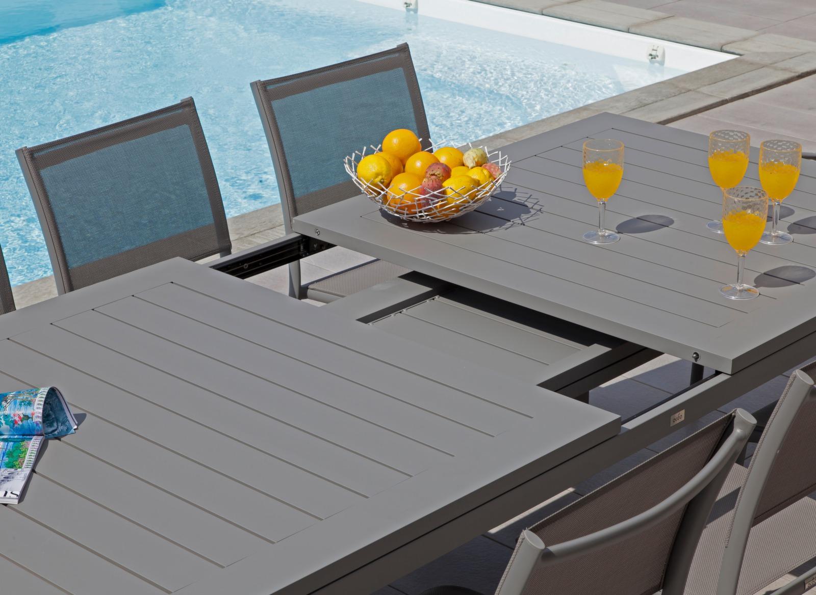 Table Jardin Aluminium Laque