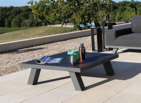 tables basses de jardin en resine metal