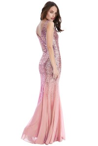 Red Prom Dress With Sequins