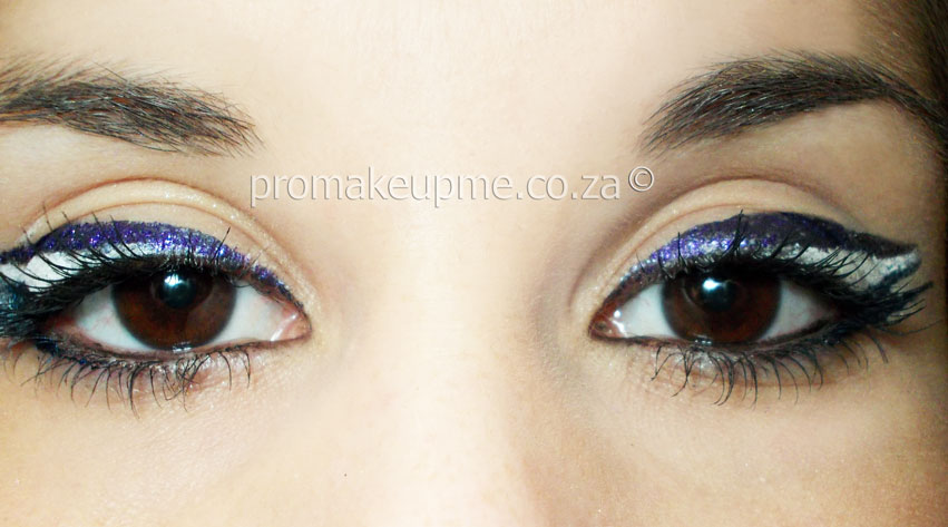 Blue Purple & Cream Colour Blocking Makeup