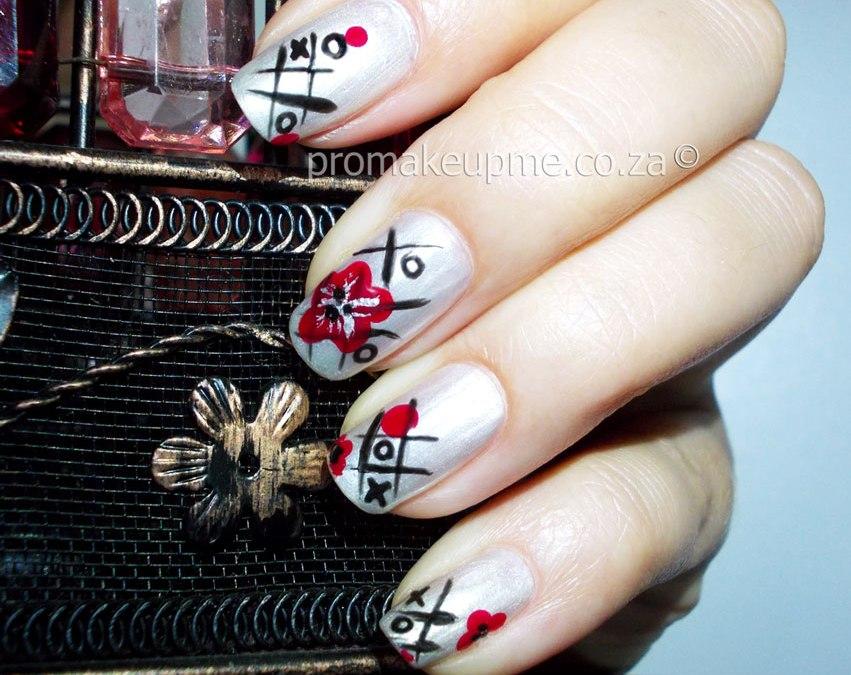 naughts crosses Nail Art